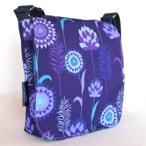 Fiona Small Messenger Bag – Purple Meadow