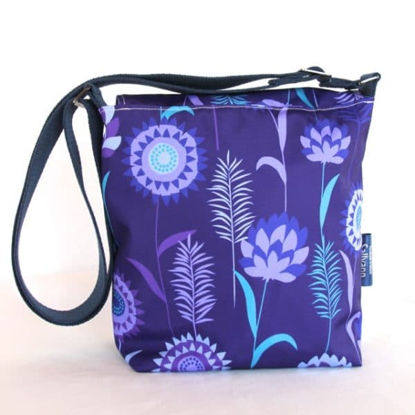 Fiona Small Messenger Handbag in Purple Meadow
