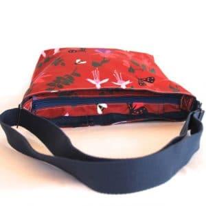 Fely Medium Cross Body Zip Top Bag – Red Fuchsia