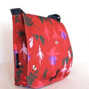 Fiona Small Messenger Bag – Red Fuchsia