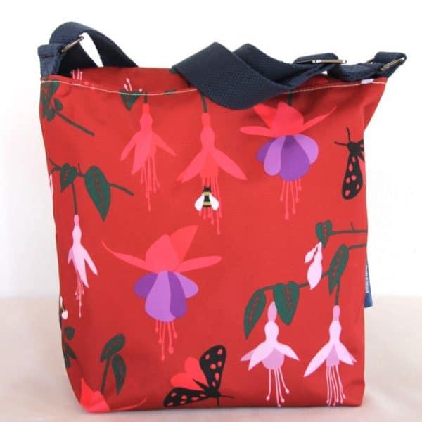 Fiona Small Messenger Handbag in Red Fuchsia