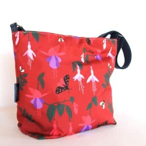 Tara Large Zip Top Handbag in Red Fuchsia