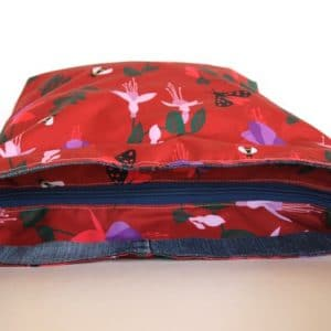 Tara Large Zip Top Handbag – Red Fuchsia