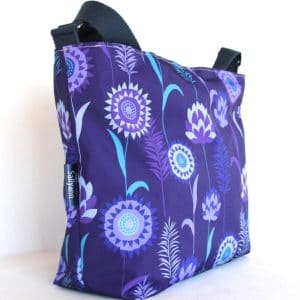 Fely Medium Cross Body Zip Top Bag – Purple Meadow