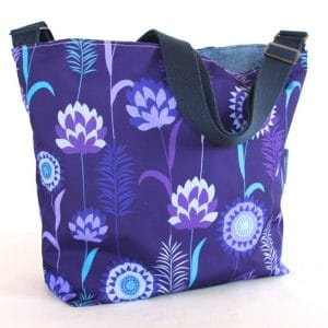 Tara Large Zip Top Handbag – Purple Meadow