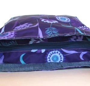 Tara Large Zip Top Handbag – Purple Meadow