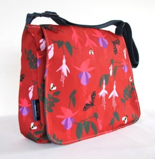 Clare Large Messenger Bag in Red Fuchsia