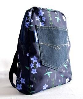Marie Medium Backpack in Blue Burren