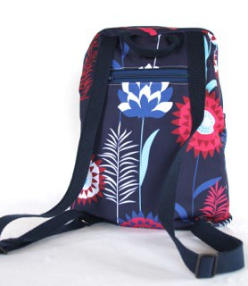 Marie Medium Backpack in Blue Meadow