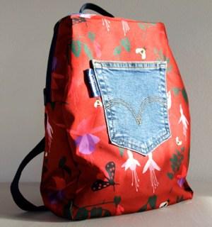 Marie Backpack in Red Fuchsia