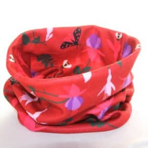 Fleece Neck Warmer – Red Fuchsia Fleece Fabric