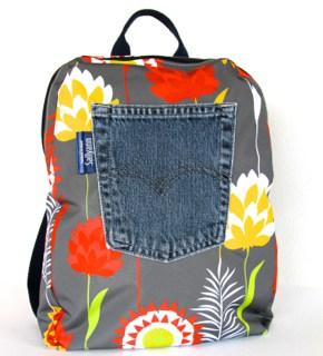 Marie Backpack in Grey Meadow