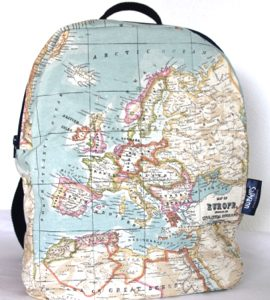 Marie Backpack – Old Map Fabric