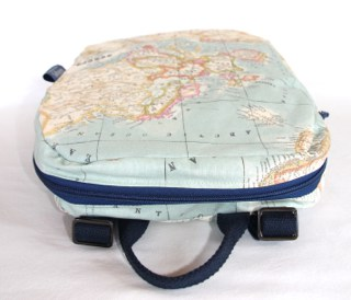 Marie Backpack in Old Map fabric