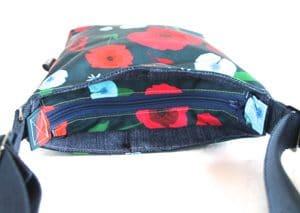 Amy Small Cross Body Zip Top Bag – Blue Poppy