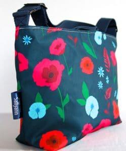 Fely Medium Cross Body Zip Top Bag – Blue Poppy