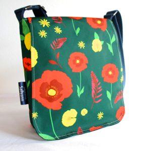 Fiona Small Messenger Bag – Green Poppy