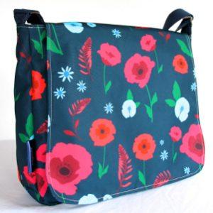 Clare Large Messenger Bag – Blue Poppy