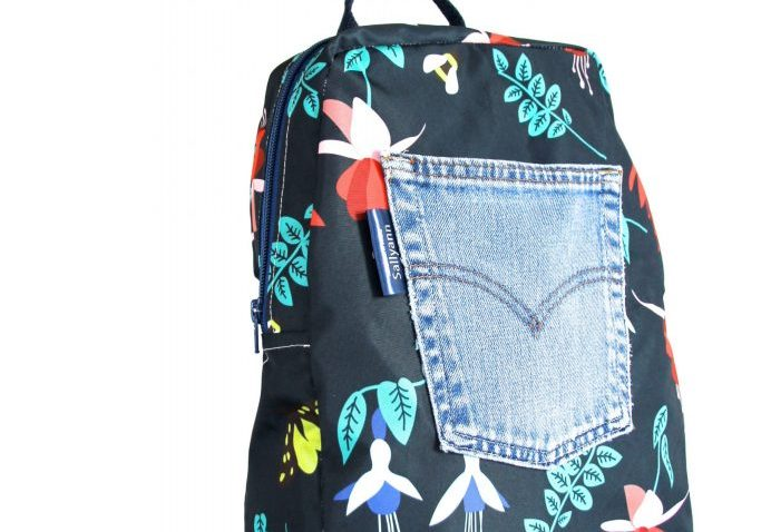 Marie Large Backpack in Blue Fuchsia