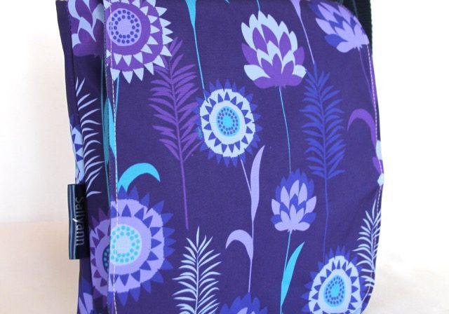 Fiona Small Messenger Handbag in Purple Meadow